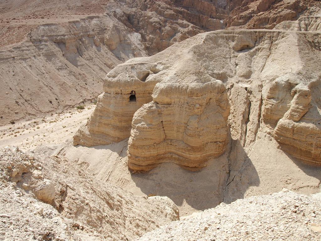 死海文書が見つかったクムランの第4洞窟(加藤先生撮影)
